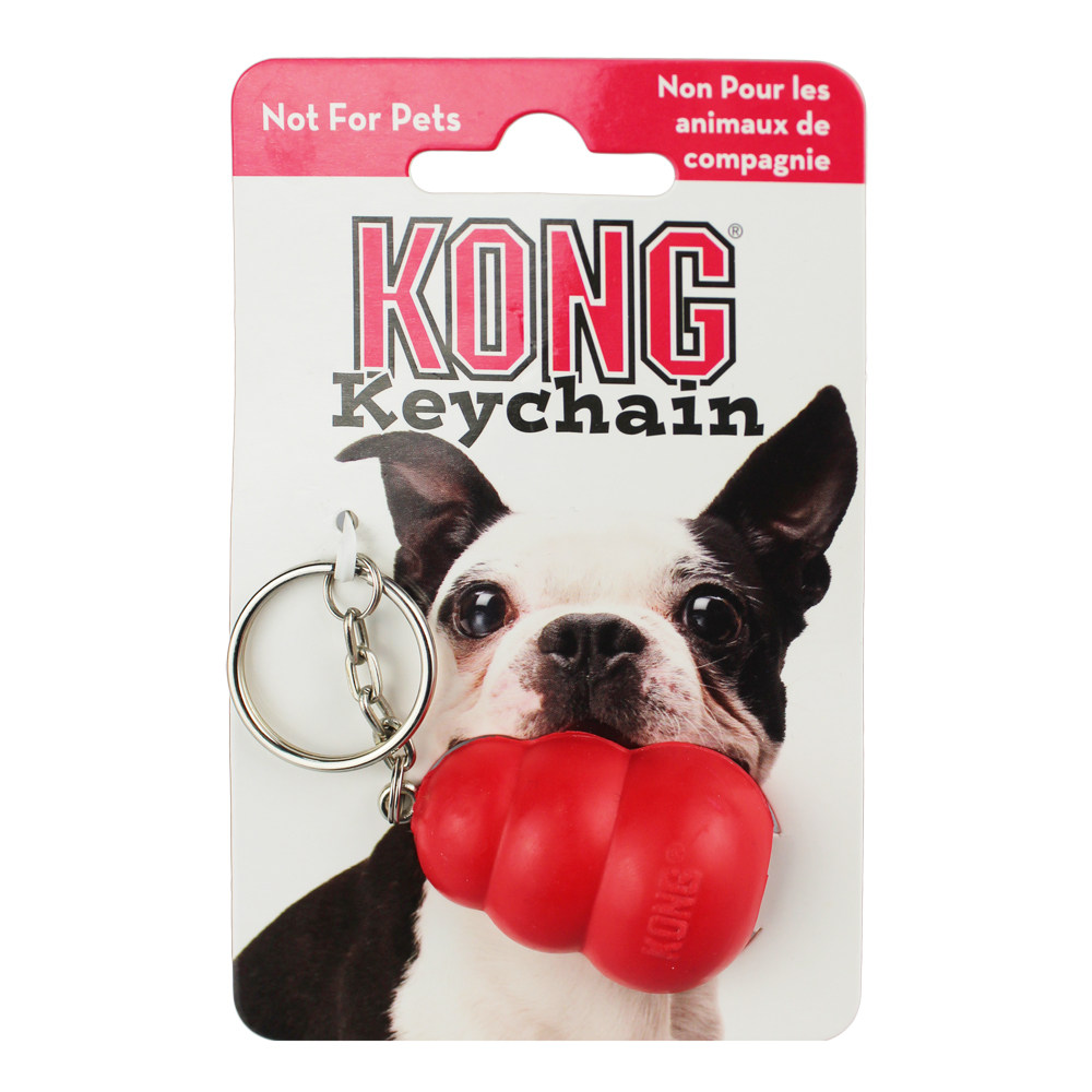 2PCS Classic KONG Natural Rubber Key Ring  (Not For Pets)