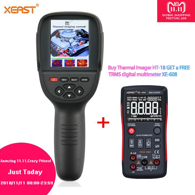 BUY ONE GET ONE from Moscow Warehouse HT-18 Thermal Imager HT18 Infrared Temperature Heat Thermal Imaging Camera reiner salzer infrared and raman spectroscopic imaging