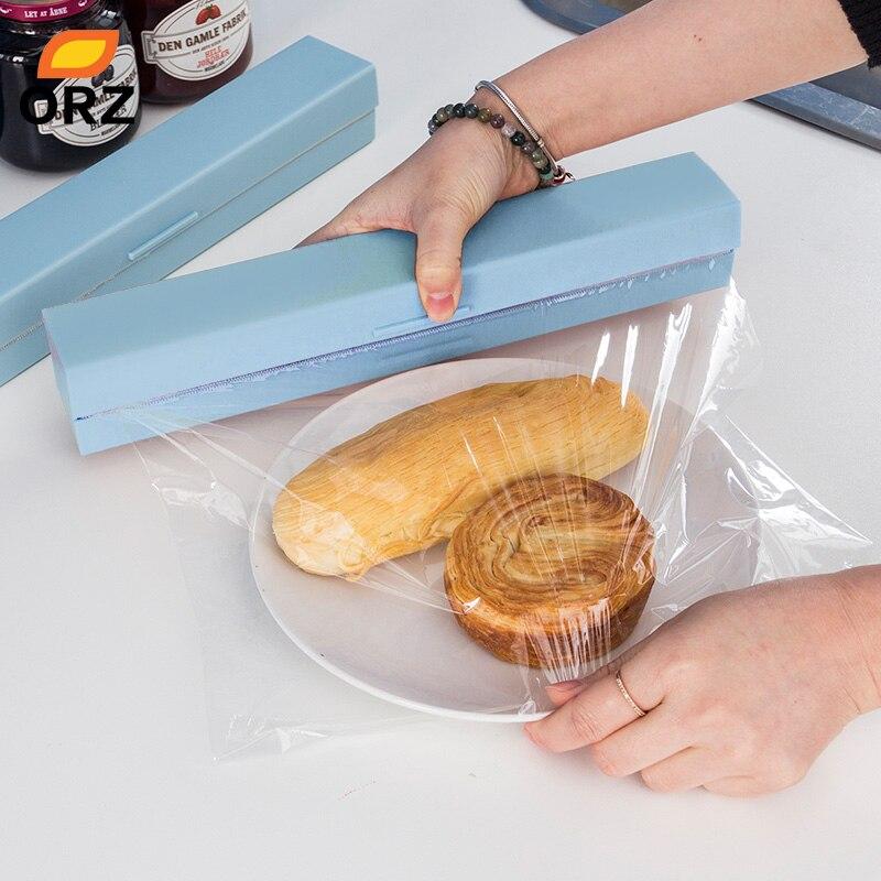 ORZ En Plastique Distributeur de papier Cuisine Film Plastique Alimentaire Cutter Distributeur Conservateur Film De Stockage De Coupe Titulaire Accessoires de Cuisine