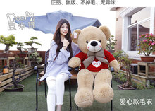 big plush round eyes big bow tie red love sweater teddy bear toy huge  bear doll gift about 160cm