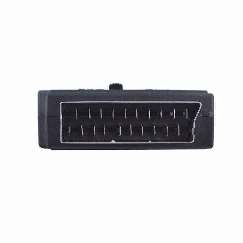 3 RCA SCART адаптер AV блок на 3 Phono композитный или S-Video с переключателем In/Out