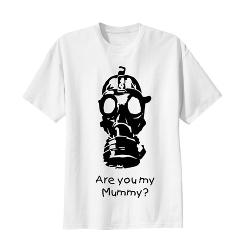 dd85e38a3 new funny T-Shirts Unisex Tee Doctor Who Are you my Mummy ? Gas Mask COOL  Men T shirt Doctor Who High quality print 100% Cotton