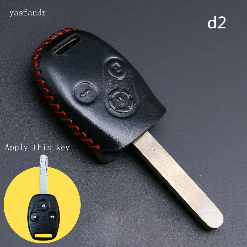 car accessories key cover case araba aksesuar For Honda Accord CR V Civic Fit Freed StepWGN keyring holder 3 buttons in Key Case for Car from Automobiles Motorcycles