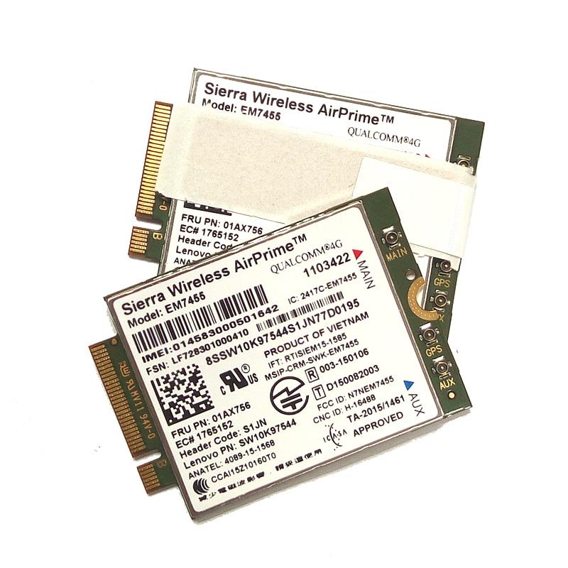 Sierra EM7455 2pcs antenna FRU 01AX756 LTE CAT6 for Thinkpad X1 carbon 5th gen X270 T470