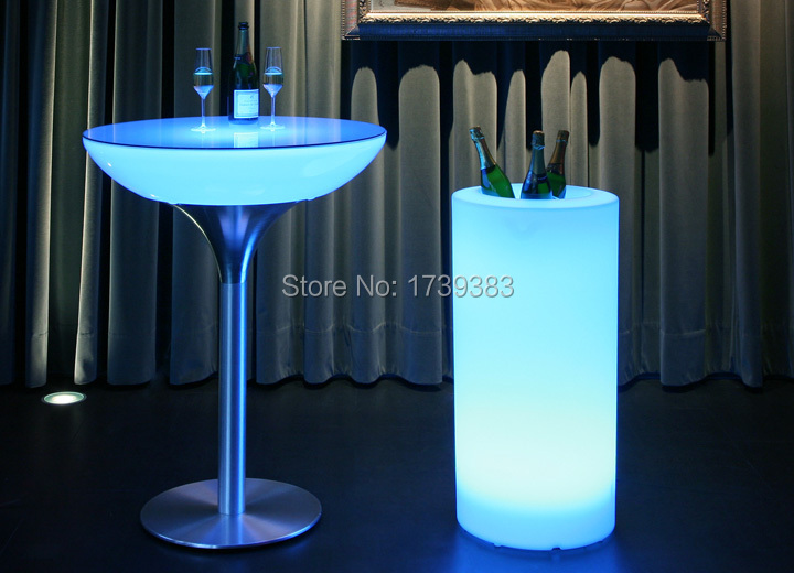 Waterproof Outdoor H115cm multi-color illuminated Champagne Cooler LED Accu Outdoor Ice Bucket holder,LED Glow plantpot Lamp