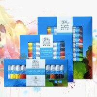 Ofis ve Okul Malzemeleri'ten Sulu Boya'de Winsor & Newton 12/18/24 Renkler Profesyonel Suluboya Boyalar Yüksek Kaliteli Suluboya Resim Pigment Sanatçı Boyama