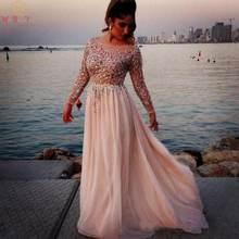 Женское шифоновое платье со шлейфом розовое цвета слоновой кости