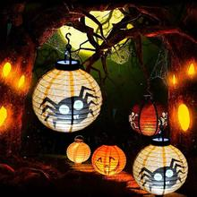 Halloween Decoration LED Paper Pumpkin Hanging Lantern Light Lamp Happy Supplies Home Horror festival