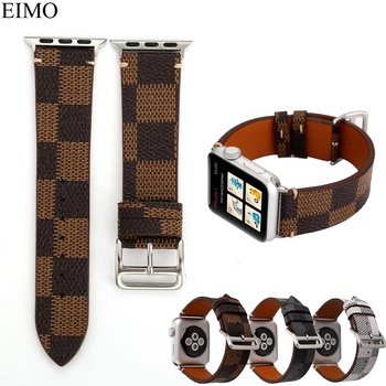 EIMO Watchband strap For Apple Watch Band 42mm 38mm Hermes Genuine Leather Wrist Bracelet Straps Iwatch series 321 Accessories strap