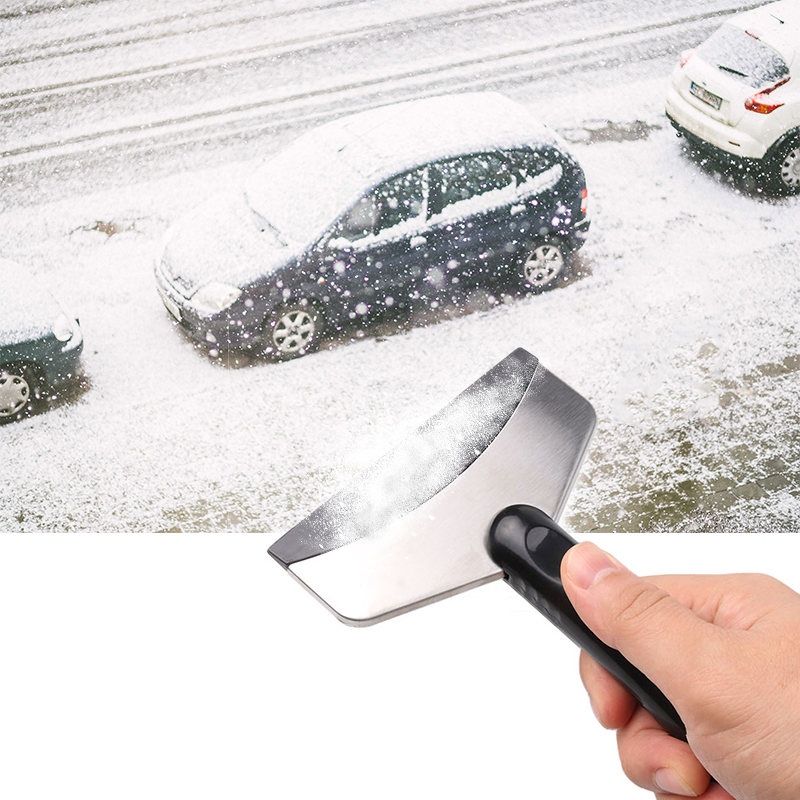 Snow Ice Scraper Removal Clean Tool Auto Car Vehicle Glass Snow Shovel Water Scraping Car Windshield Anti Slip Ice Remove Tools Spade & Shovel