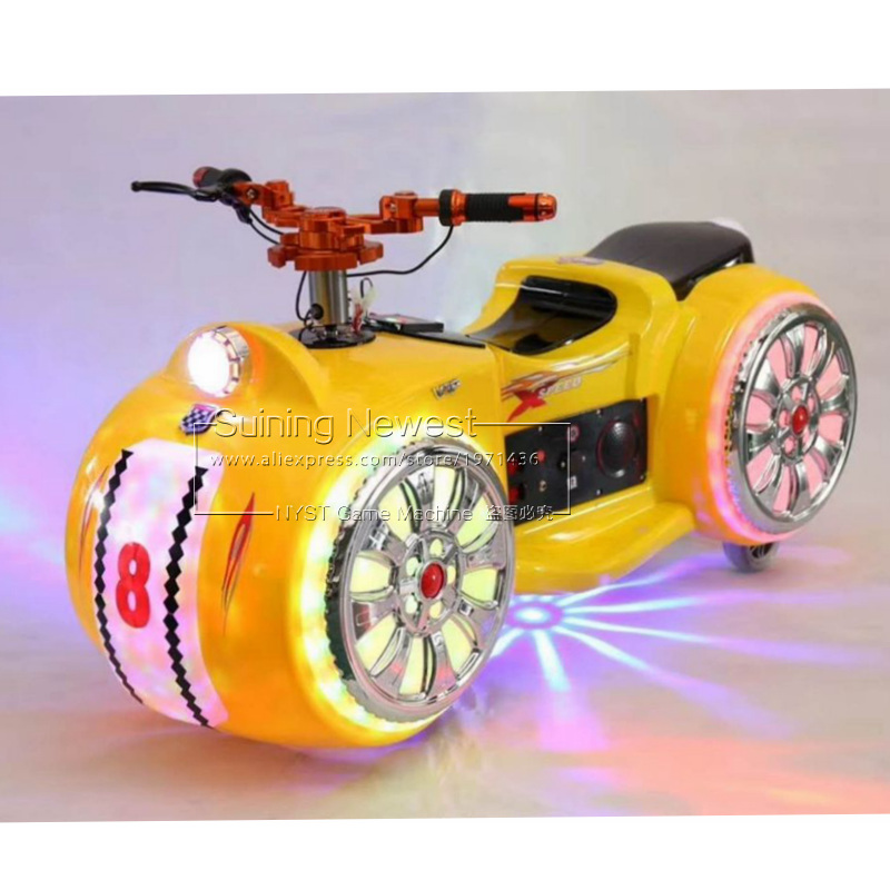 Indoor Outdoor Plaza Luminous Amusement Equipment Drive Racing Car Moto Motorbike Rides Simulator Game Machine Mini Bumper Cars