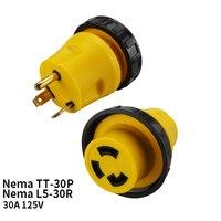 TT-30P Nema de EE. UU. A Nema L5-30R Anti-caída bloqueo Industrial bloqueo adaptador conector conversor enchufe Cable de alimentación