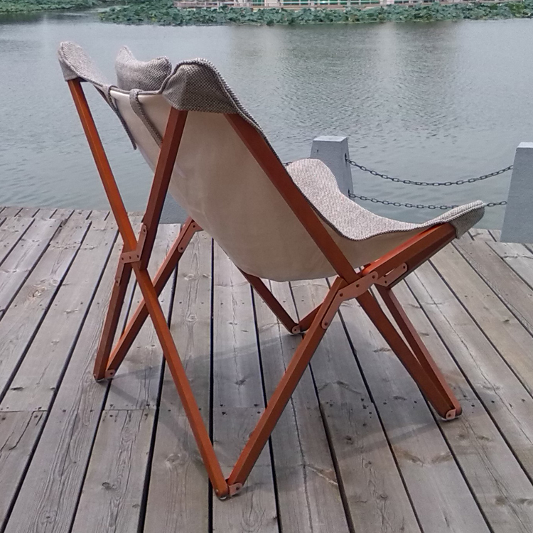 Online Shop Solid Wood Furniture Folding Chairs Recliners Fabric Butterfly  Chair Beach Chair Portable Chair Balcony Siesta Shipping | Aliexpress Mobile