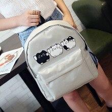 EXCELSIOR Harajuku Style Femmes Toile Sacs À Dos Adolescente École de Filles Sacs Chat de Bande Dessinée Sac À Dos Femelle voyage Sac Campus sac à dos