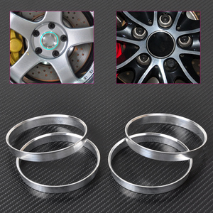 DWCX 4pcs New Aluminum Hub Rings | 72.6mm Car Hub to 74.1mm Wheel Bore | ID 72.56 | OD 74 For BMW(China)