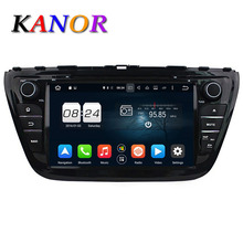 Kanor Octa core 2 г + 32 г Android 6.0 Аудиомагнитолы Автомобильные DVD плеер для Suzuki SX4 2014 с GPS навигатор Мультимедиа Видео bluetooth WI-FI