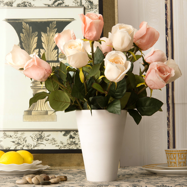 20 rose artificial flower rose silk flower artificial flower new 20 rose artificial flower rose silk flower artificial flower new house living room dining table decoration flower in artificial dried flowers from home mightylinksfo Gallery