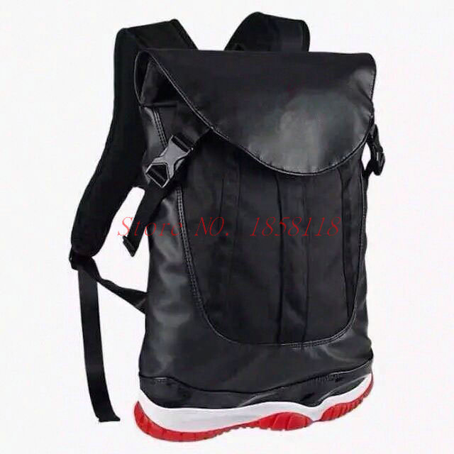New Fashion men's outdoor shoulder bag Jordan 11 Backpacks bag women's and  men's black free shipping
