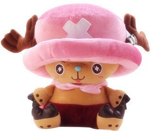 Candice guo! Hot sale plush toy doll one piece Priates of the World cute doctor Chopper good for gift 30cm 1pc