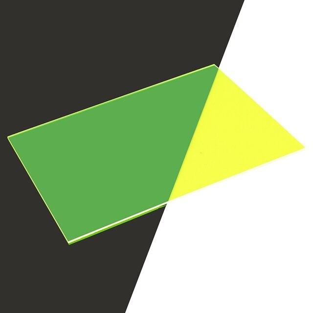 A4 210x297x3mm transparente acrílico (PMMA) de plexiglás de color hojas/plexiglás/placa de acrílico negro/Blanco/rojo/verde/naranja