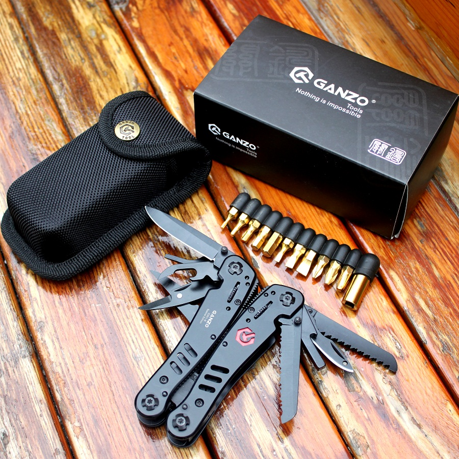Ganzo Nůž na nářadí G301B Skládací kleště na venkovní přežití Kempování Lovecké nože Lovecké nože EDC Víceúčelové kleště Multifunkční kleště