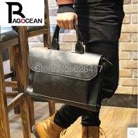 2014 Hot Sale New High Quality PU Leather Men Bag Briefcase Handbag Men Shoulder Bag Laptop