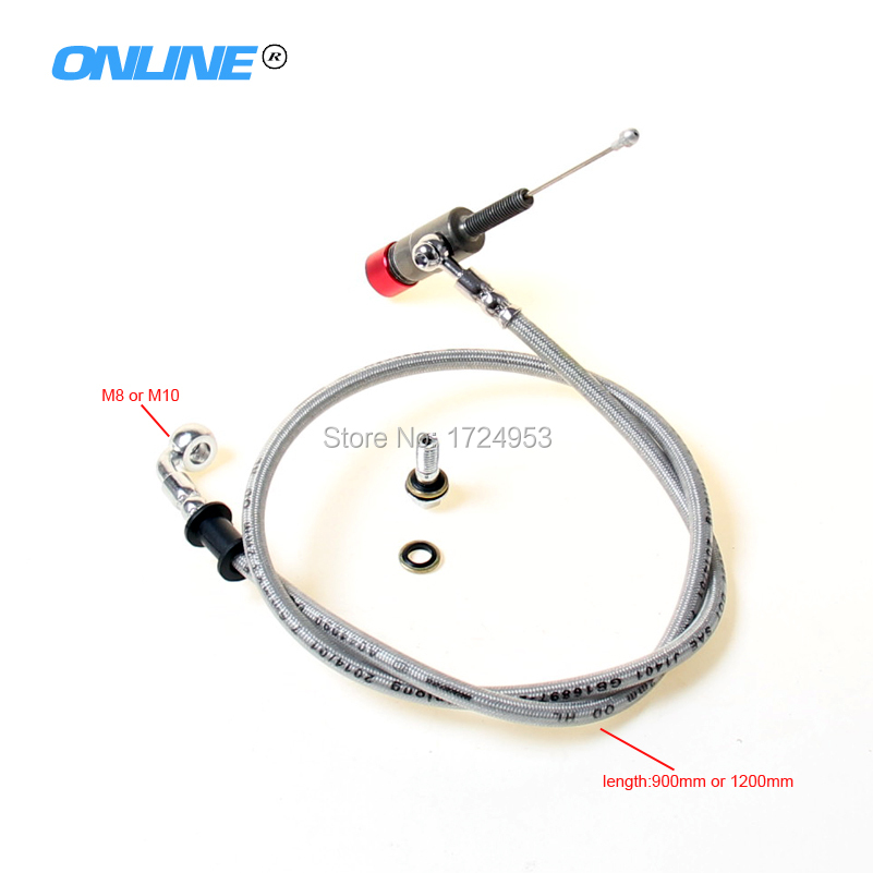 цена Hydraulic Clutch oil hose M8 or M10 / 900mm or 1200mm with master cylinder pump refitting for motorcycle dirt bike pit bike use онлайн в 2017 году