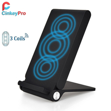 CinkeyPro QI Wireless Charger Dock Holder for Samsung Galaxy S6 S7 S8 Edge Note 5 Pad Charging Stand 5V 1A Adapter Charge