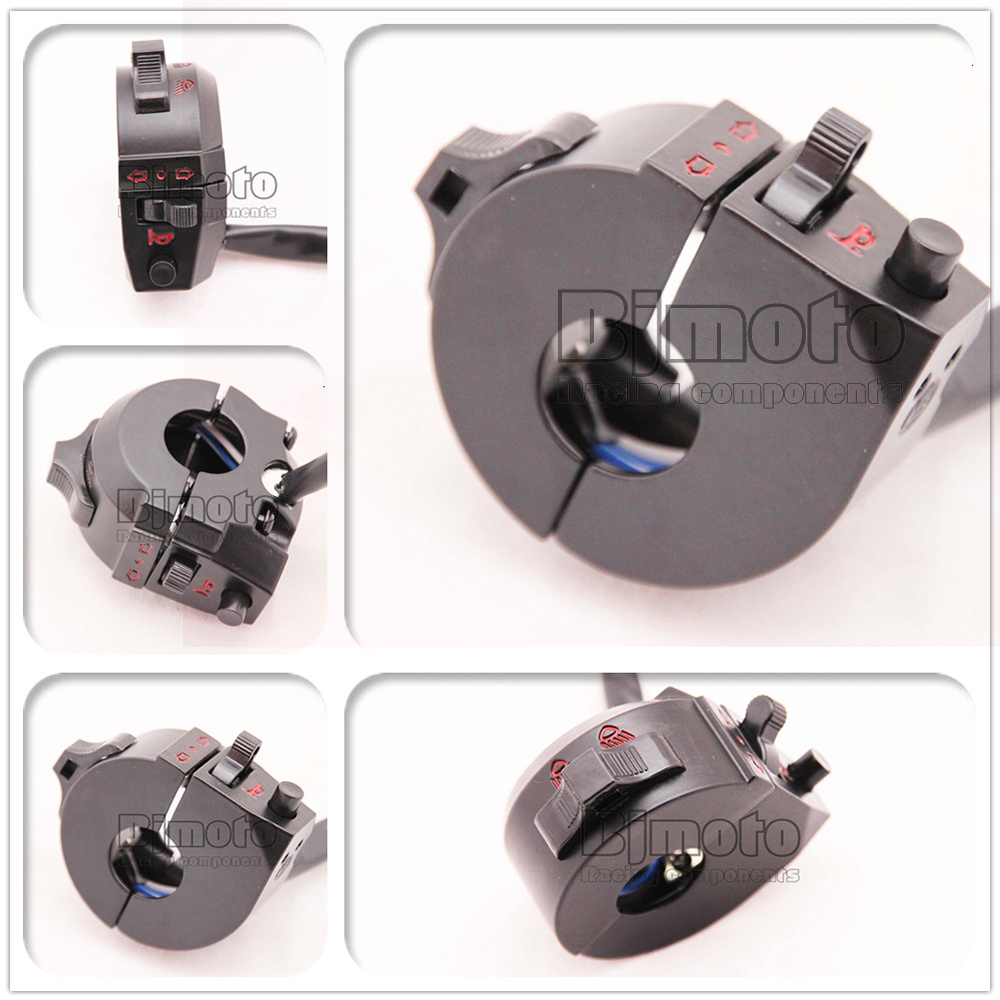 DC12V 7/8'' Motorcycle Handlebar Horn Turn Signal Light Control Switch Blinker Switchs For Honda Yamaha Harley Kawasaki BMW