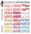 12 Hojas/lote Nail Art YB589-600 Completo Cubierta Mixta de Pequeñas Flores de Color Rosa Transferencia de Agua del clavo de la Etiqueta engomada Para las Uñas (12 DISEÑOS EN 1)