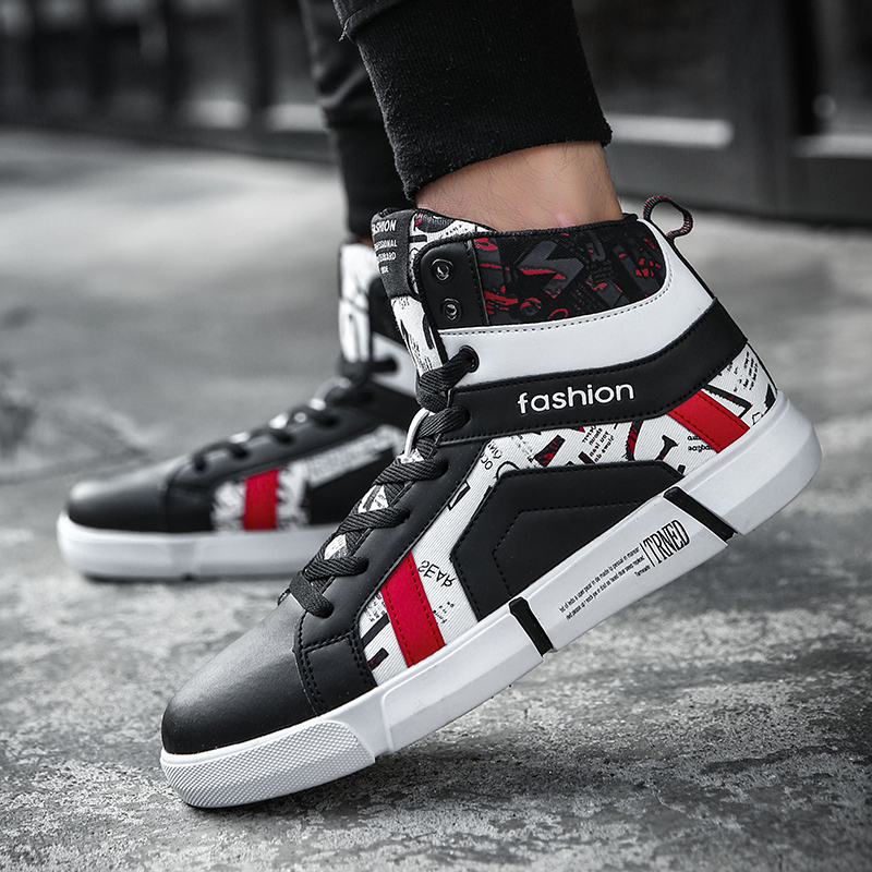 Sneakers black Krasovki Adulte Noir Casual Top Luxe Chaussures High Confortable Baskets White Mode Hommes blanc Homme Mâle Marque De qaEK61f