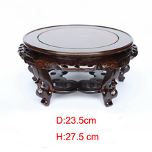 Solid wood household act the role ofing is tasted several black catalpa wood handicraft furnishing articles vase flowerpot base недорого