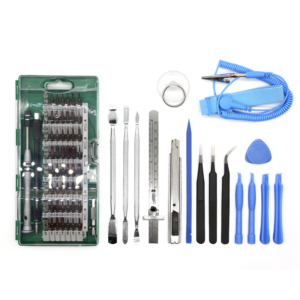 ФОТО High quality S2 Steel 70pcs mobile phone repairing tools for iPhone,Smart Phones, Laptop ,Tablet, PC