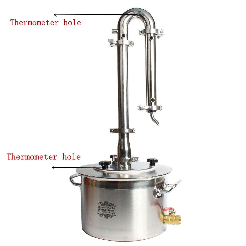 DIY Home  Alcohol Whisky Water Cooper Distiller Cooler Moonshine Still Stainless Boiler Keg Spirits Brew Kit