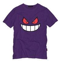 Anime Cartoon Gengar Adult Tshirt O Neck Top Tees Casual Short Sleeved T Shirt Creative Men
