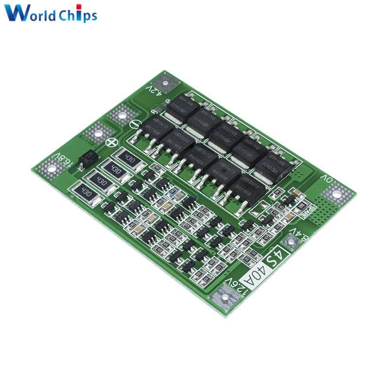 4S 40A литий-ионная аккумуляторная плата PCB BMS 18650, модуль Lipo Cell с балансировкой для электродвигателя перфоратора