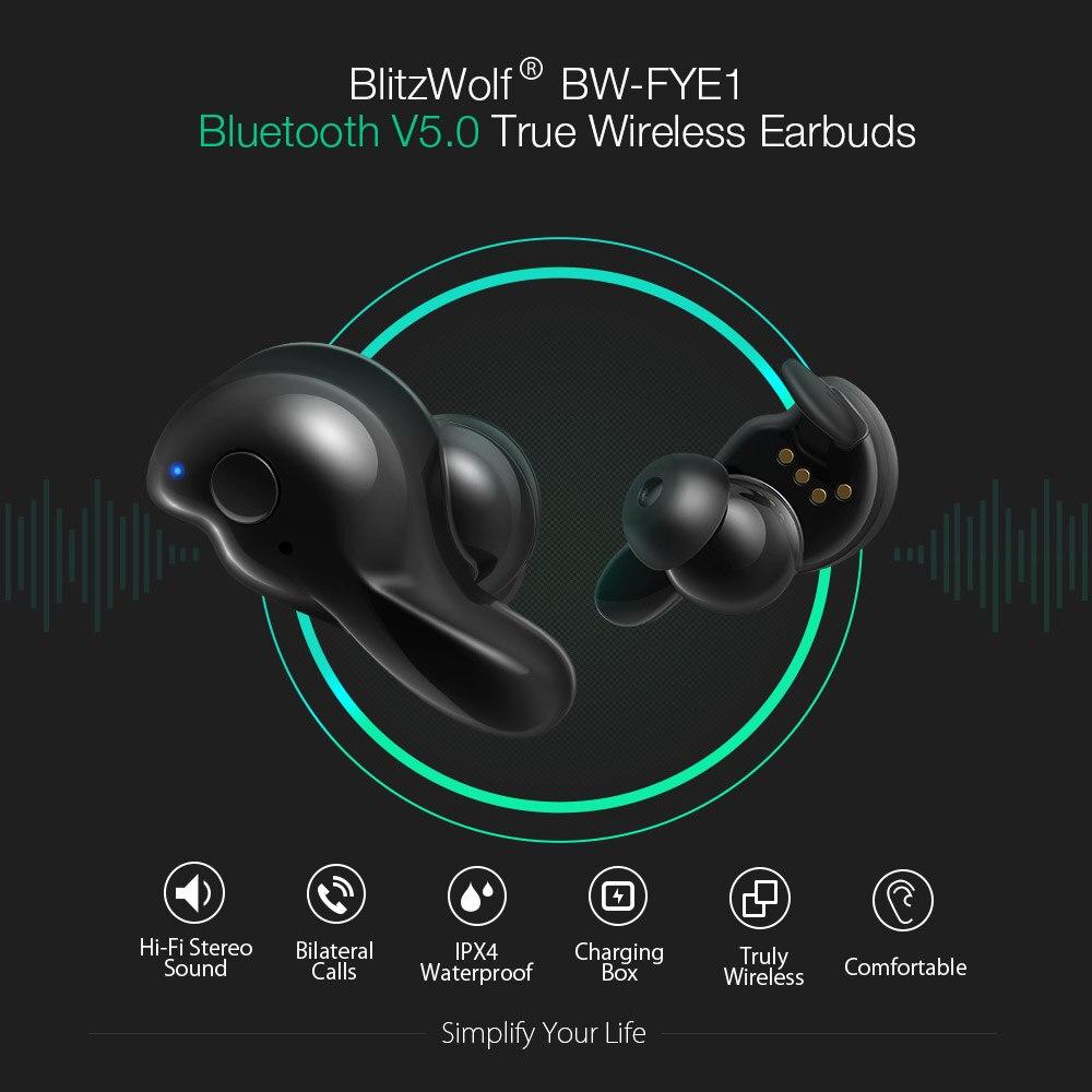 62cab90dcdd Blitzwolf BW FYE1 bluetooth V5.0 TWS True Wireless Sport Earphone ...