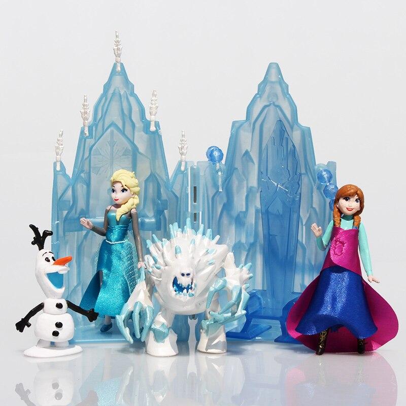 Aliexpresscom Comprar 6 Unidsset Elsa Anna Princesa Castillo