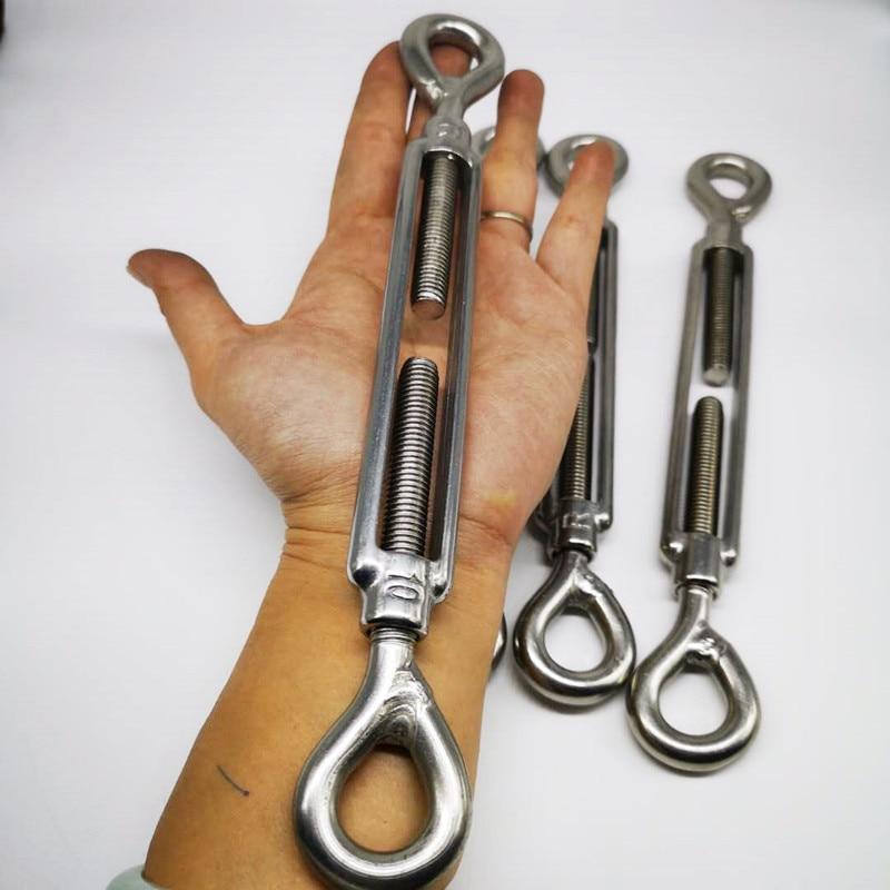4pcs M10 Stainless Steel 304 Adjust Chain Rigging Eye & Eye Turnbuckle Silver Choose