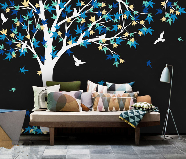 Large Mural 238X180cm Large Canada Maple Tree Wall Decals baby Bedroom nursery Art Pic vinyl wall & Large Mural 238X180cm Large Canada Maple Tree Wall Decals baby ...
