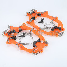 Outdoor Hiking Climbing Adult 8 Teeth Anti Slip Winter Snow Ice Climb Spikes Grippers Crampon for Boots Shoes Travel Kits
