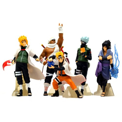 HOT Anime Naruto Set 5pcs Action Figures PVC Dolls Collection Kakashi Uzumaki Naruto Itachi