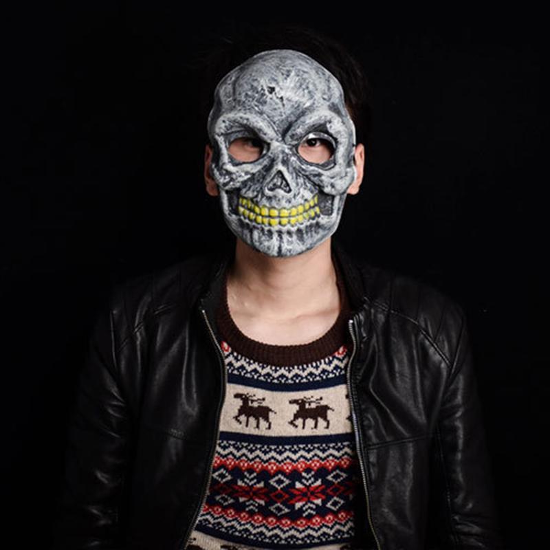 Plastic Skull Horror Scary Gothic Mask Props For Halloween