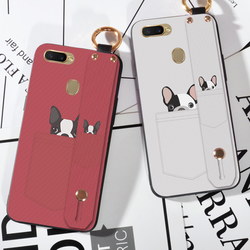 Soft TPU Strap <font><b>Phone</b></font> <font><b>Case</b></font> For <font><b>OPPO</b></font> F1S A59 <font><b>A71</b></font> A83 A1 A3S AX5 A7 Cute Pocket Dog Back Cover For <font><b>OPPO</b></font> F3 PLUS F5 A79 F7 F9 image