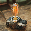 creative desk lamp vintage camera light decoration edison table lamp abajur para quarto retro desk light