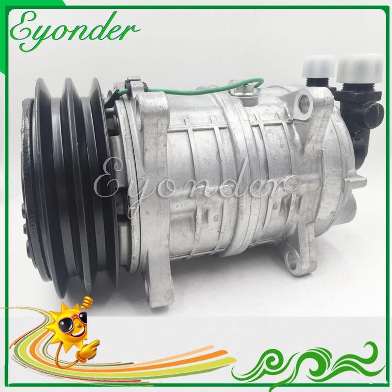 A/C Compressor Cooling Pump PV2 12V or 24V Zexel TM16 TM15 HD for Universal freezer truck Mini Bus Freightliner FS65 FC70 FL50 5 pcs qdzh35g r134a 12v cooling compressor for marine refrigeration unit