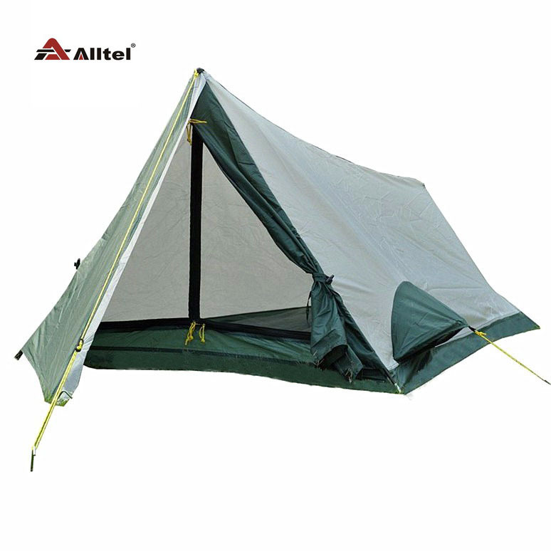 Basspro authentic outdoor camping tent Single Carbon Pole Singhle lelayer tent on foot through the equipment outdoor double layer 10 14 persons camping holiday arbor tent sun canopy canopy tent