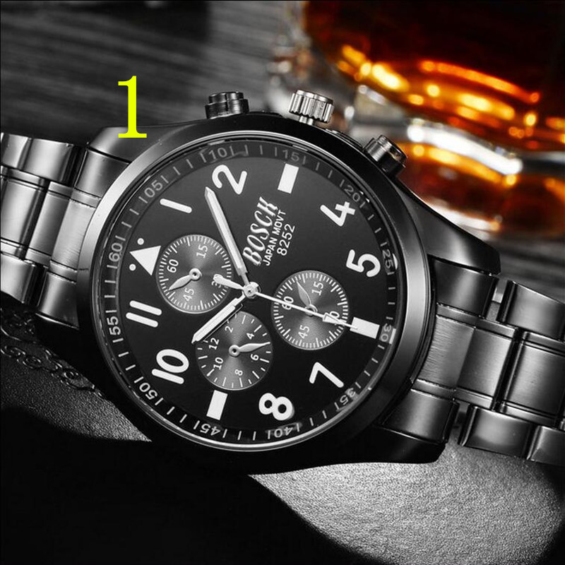 zou's Ultra-thin automatic mechanical watch tungsten steel men's watch men's waterproof luminous waterproof trend new