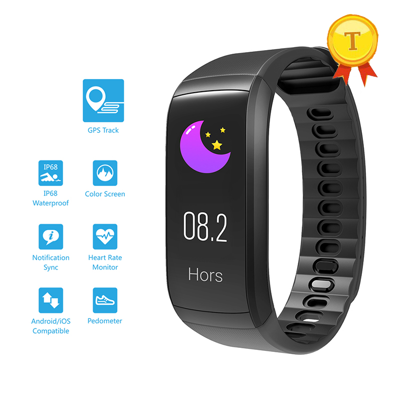 Waterproof touch screen swim Smart Band IP68 GPS tracking Health Monitor GPS Pedometer Heart Rate Monitor Smartband for iphone 6-in Smart Wristbands from Consumer Electronics    1
