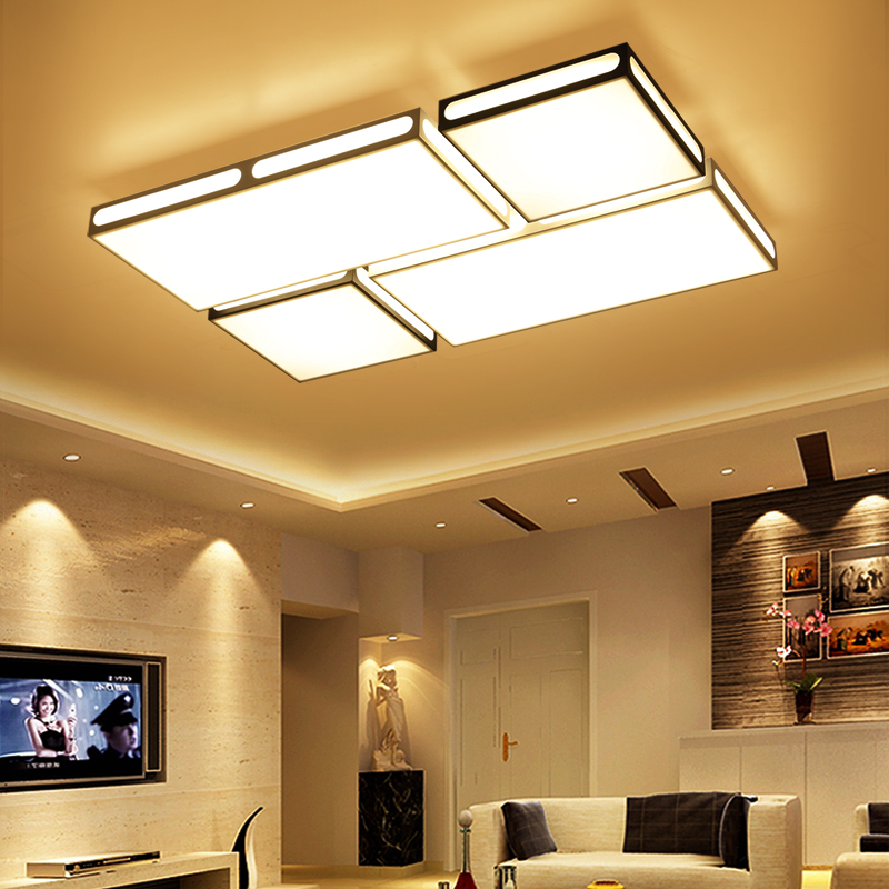 modern simple rectangular LED creative personalized dining room study room bedroom iro ceiling lamp LO81611